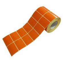 برچسب پرینتر لیبل زن نارنجی 34×51 میلیمتر (500 عددی)