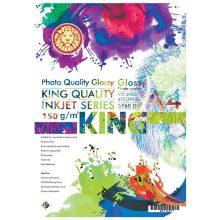 کاغذ گلاسه ۱۵۰ گرمی KING سایز A4 بسته ۱۰۰ برگی
