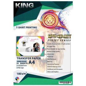 کاغذ چاپ روی لباس ۱۸۰ گرمی KING سایز A4 بسته ۲۰ برگی