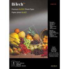 کاغذ گلاسه ۲۵۵ گرمی Bitech سایز ۱۵×۱۰ بسته ۸ برگی