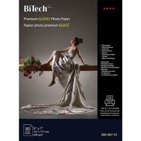 کاغذ گلاسه ۲۶۰ گرمی Bitech سایز ۱۸×۱۳ بسته ۵۰ برگی