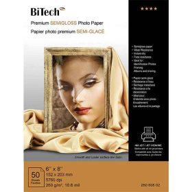 کاغذ گلاسه نیمه براق 260 گرمی Bitech سایز 21×15 بسته 50 برگی