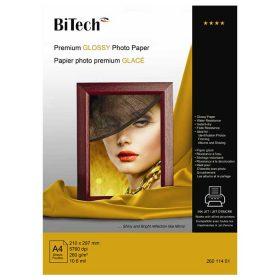 کاغذ گلاسه ۲۶۰ گرمی Bitech سایز A4 بسته ۲۰ برگی