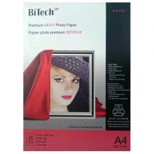 کاغذ سیلکی (ابریشمی) ۲۶۰ گرمی Bitech سایز A4 بسته ۲۰ برگی