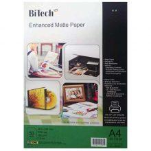 کاغذ گلاسه مات ۱۸۰ گرمی Bitech سایز A4 بسته ۵۰ برگی