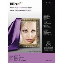 کاغذ کریستالی ۲۶۰ گرمی Bitech سایز ۲۱×۱۵ بسته ۵۰ برگی