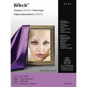 کاغذ کریستالی 260 گرمی Bitech سایز 21×15 بسته 50 برگی