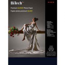 کاغذ گلاسه ۲۵۵ گرمی Bitech سایز A4 بسته ۲۵ برگی