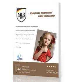 کاغذ گلاسه دوطرفه ۲۰۰ گرمی MIR سایز A4 بسته ۵۰ برگی