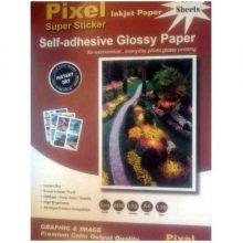 کاغذ گلاسه استیکر ۱۲۰ گرمی PIXEL سایز A4 بسته ۱۰۰ برگی