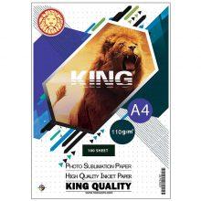 کاغذ سابلیمیشن ۱۱۰ گرمی KING سایز A4 بسته ۱۰۰ برگی