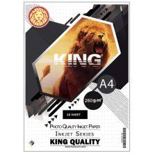 کاغذ عکس ۲۶۰ گرم KING سایز A4 بسته ۲۰ برگی
