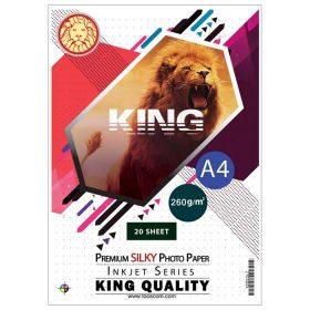 کاغذ سیلکی (ابریشمی) 260 گرمی KING سایز A4 بسته 20 برگی