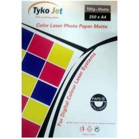 کاغذ لیزری رنگی ۱۰۰ گرمی TYKOJET سایز A4 بسته ۲۵۰ برگی