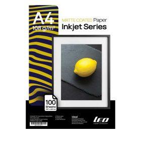 کاغذ کوتد مات 108 گرمی LEO سایز A4 بسته 100 برگی