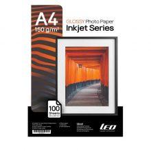 کاغذ گلاسه ۱۵۰ گرمی LEO سایز A4 بسته ۱۰۰ برگی