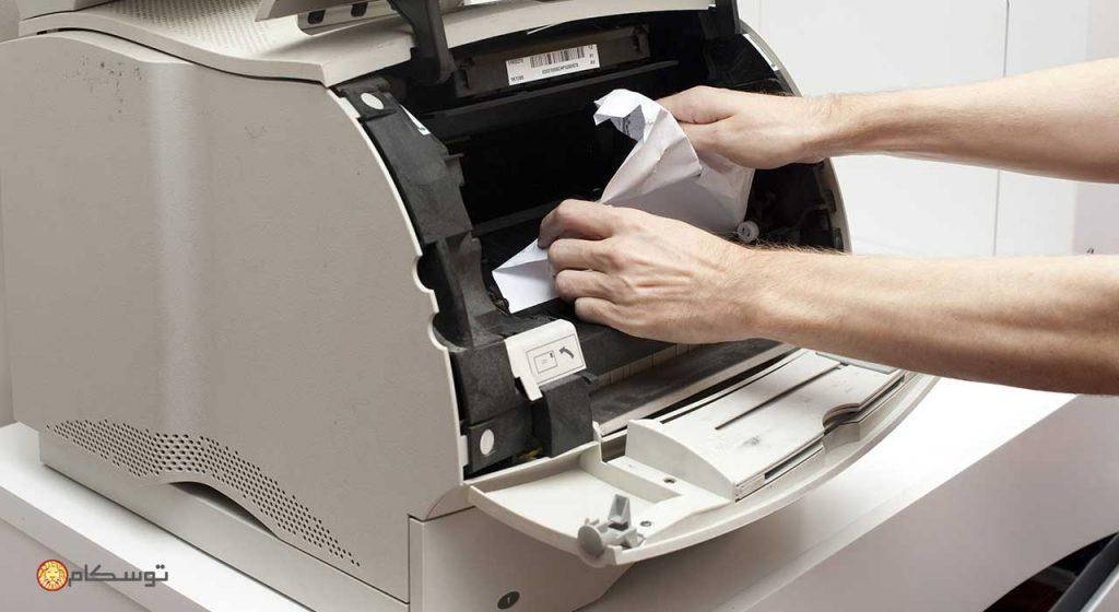 گیر کردن کاغذ در دستگاه پرینتر، فروشگاه اینترنتی توسکام