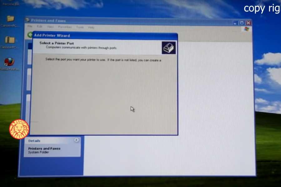 نصب پرینترهای canon در ویندوز xp، آموزش نصب درایور
